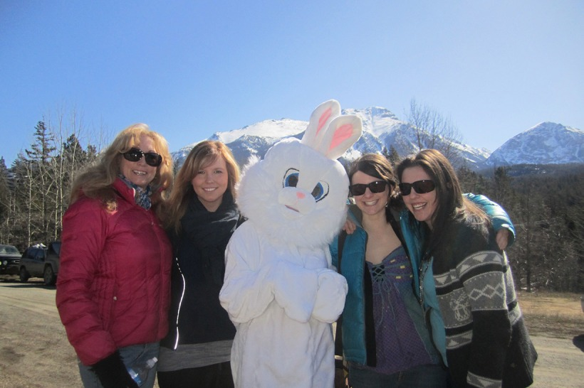Gold Bridge Easter Bunny